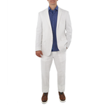 Adolfo Linen Suit in White