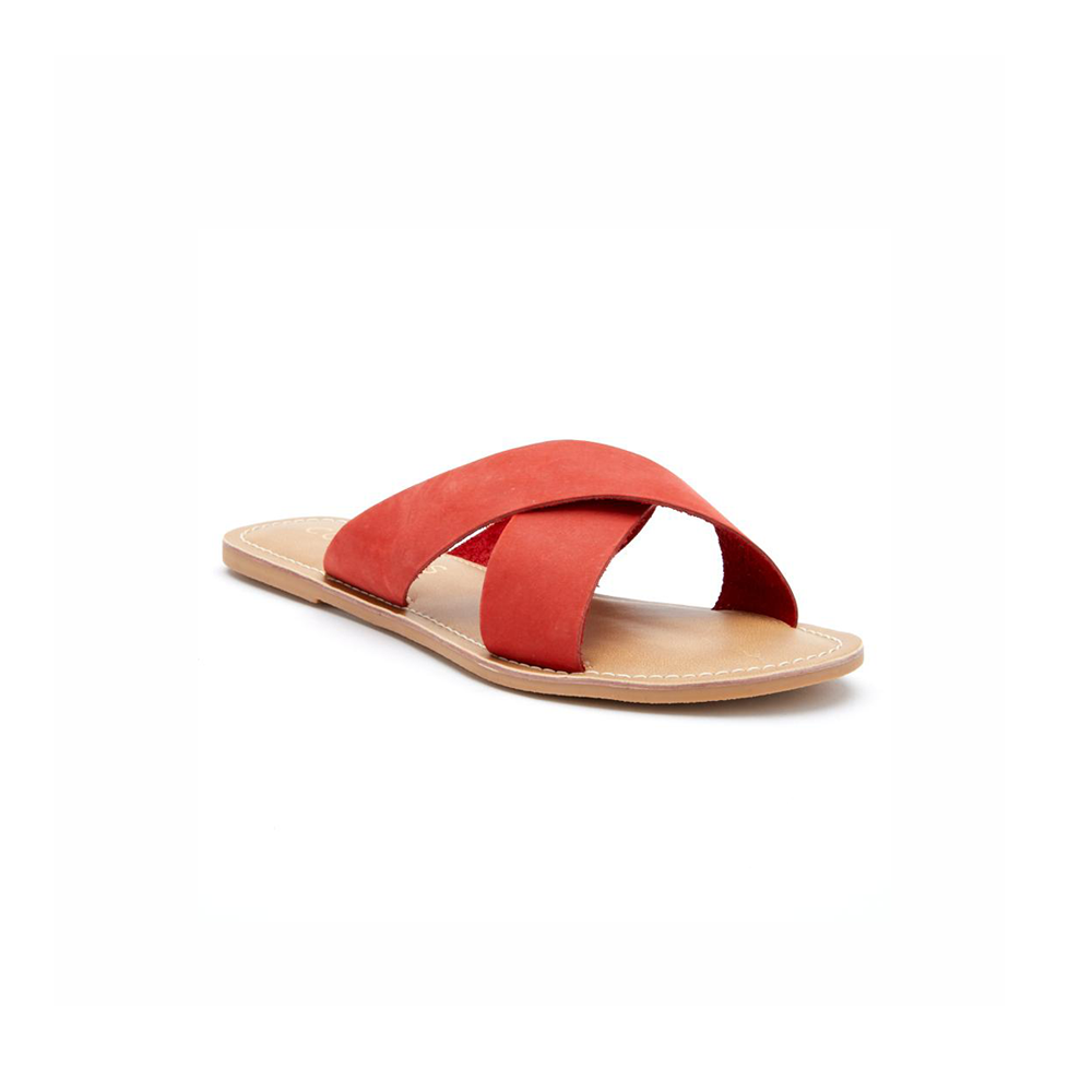 Womens Coconuts by Matisse Pebble Slide on Sandal in Red - Brother's on the Boulevard