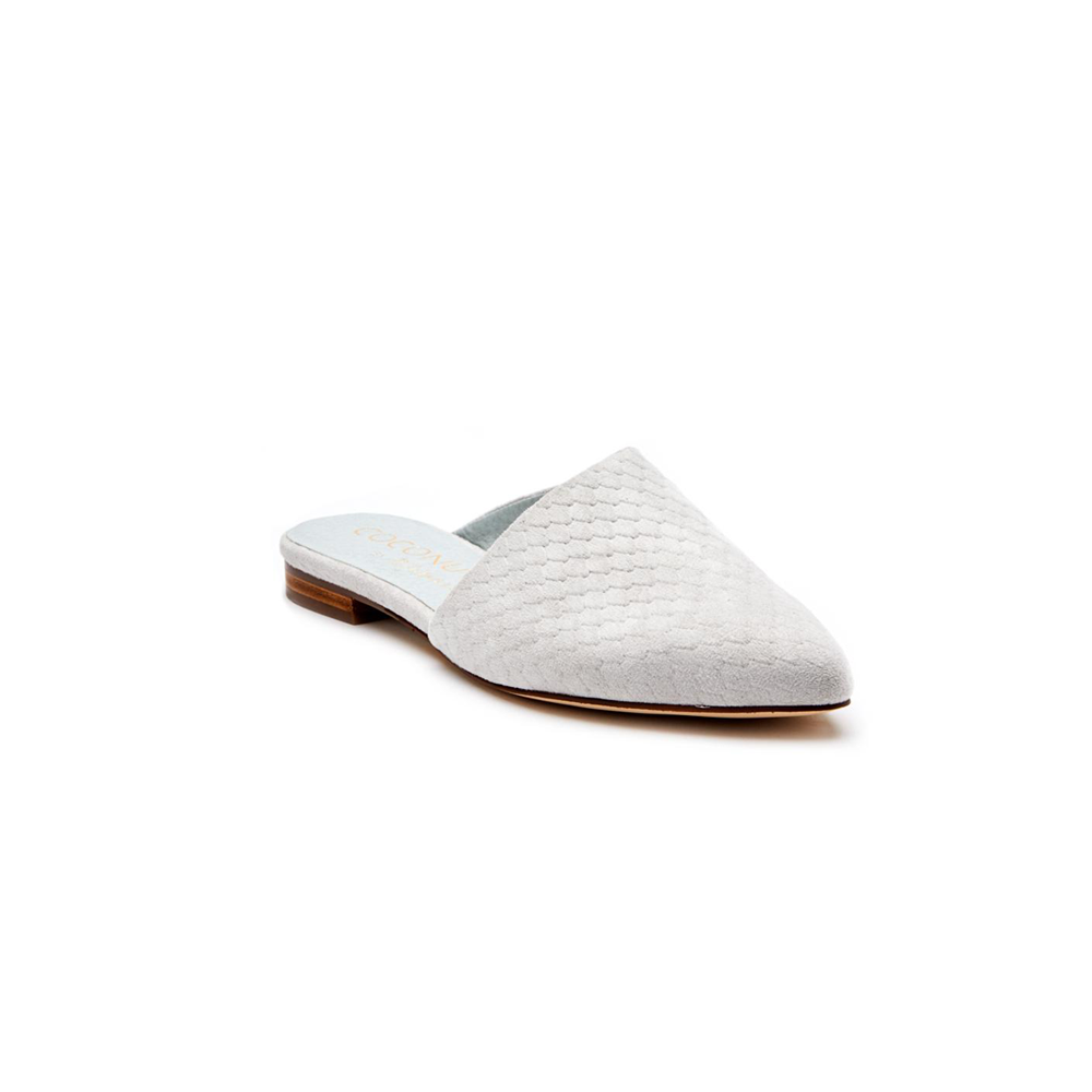 Womens Coconuts by Matisse Xander Suede Snake Mule in Grey - Brother's on the Boulevard