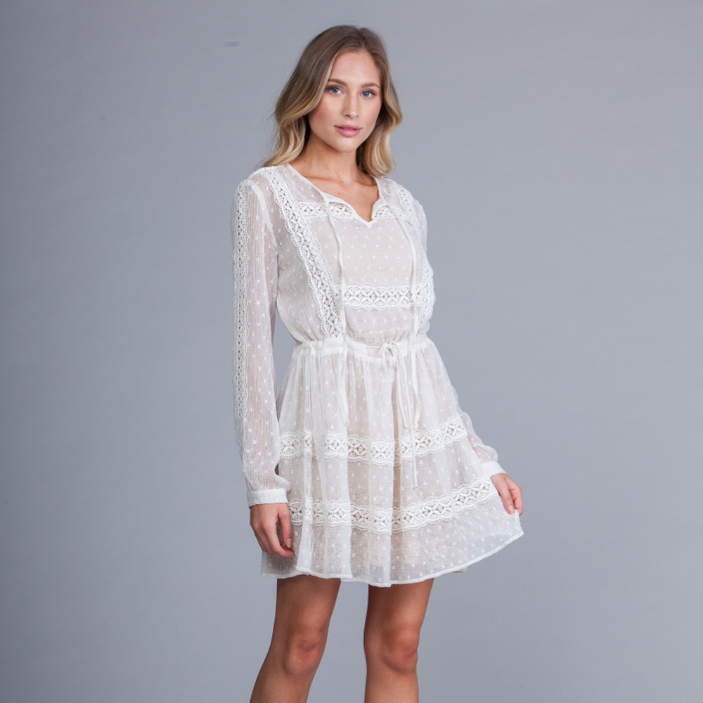 fb402f459ce Womens A La Plage Lace Cover Up in Off-White - Brother s on the Boulevard