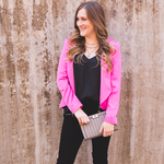 Crosby by Mollie Burch Robbie Blazer in Shocking Pink