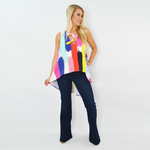 Womens Crosby by Mollie Burch Brady Hi-Low Tank in Surf Shack - Brother's on the Boulevard