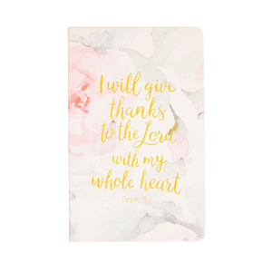 "Womens Eccolo ""Psalm 9:1"" Prayer Journal in Floral - Brother's on the Boulevard"
