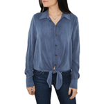 Fifteen Twenty Tie Front Shirt in Denim