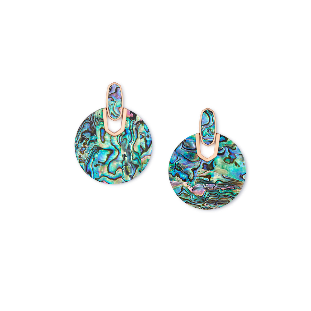 Kendra Scott Didi Rose Gold Earring in Abalone Shell