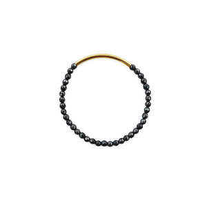 Womens Gold + Stone Disco Tube Bracelet in Pyrite - Brother's on the Boulevard