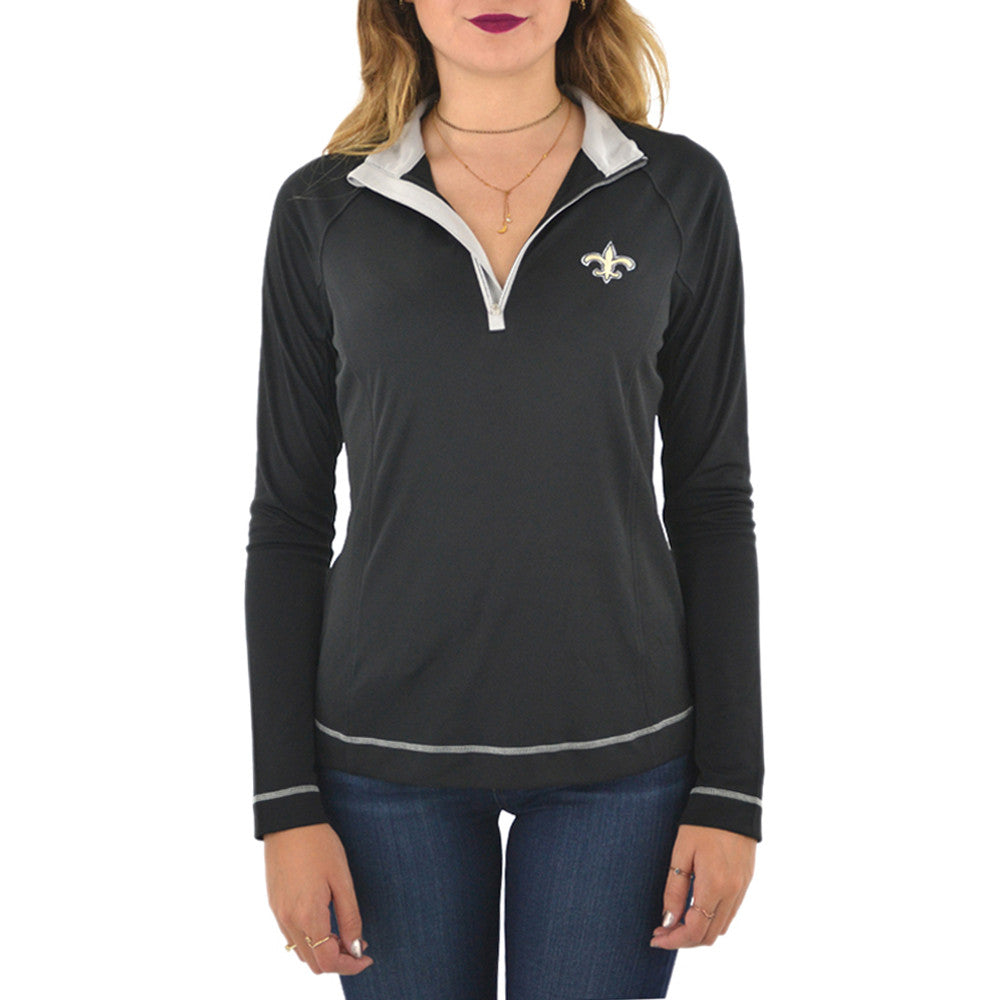 Cutter & Buck New Orleans Saints Dry-Tec Half Zip in Black