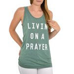 Womens The Light Blonde Livin On A Prayer Tank in Seafoam - Brother's on the Boulevard