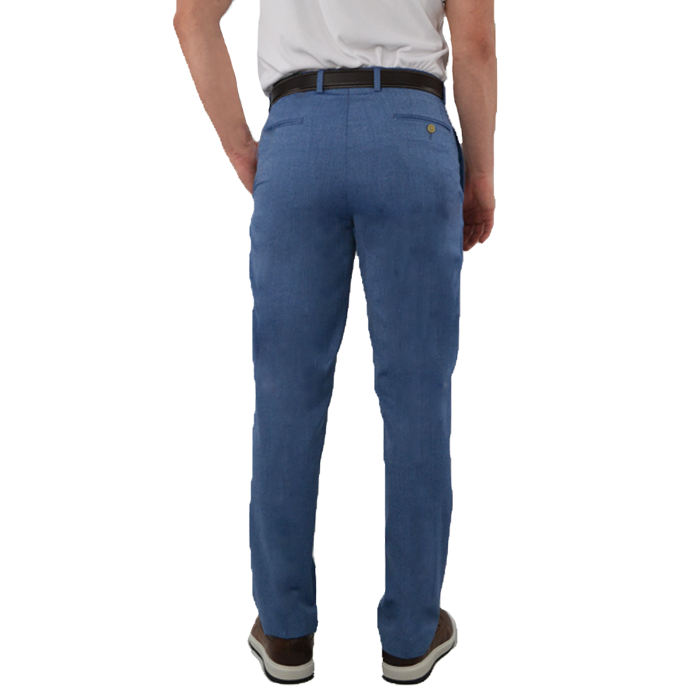 Mens Lauren by Ralph Lauren Flat Front Dree Pants in Blue - Brother's on the Boulevard