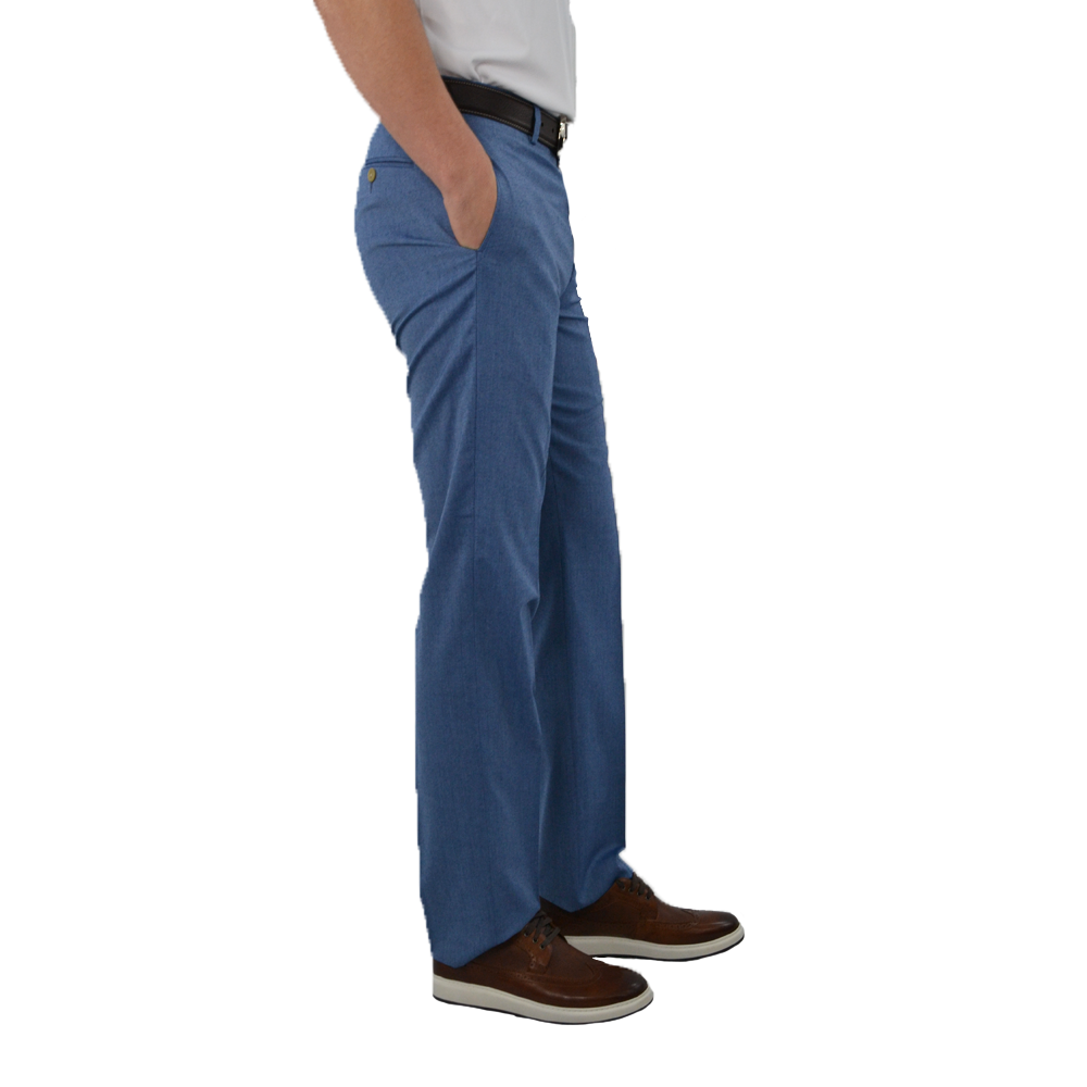Mens Lauren by Ralph Lauren Flat Front Dress Pants in Blue - Brother's on the Boulevard