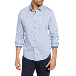 Robert Graham Celadon Sport Shirt in Blue