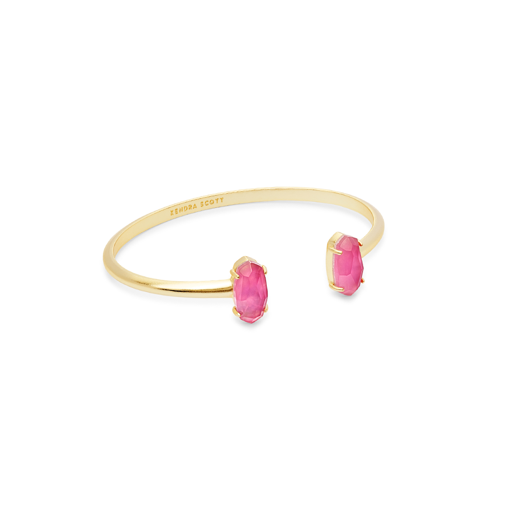 Kendra Scott Edie Gold Cuff Bracelet in Azalea Illusion