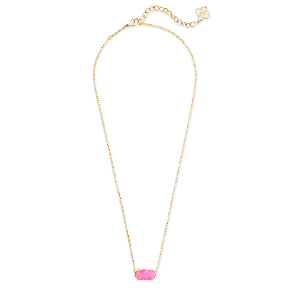 Womens Kendra Scott Ever Gold Pendant Necklace in Azalea Illusion - Brother's on the Boulevard