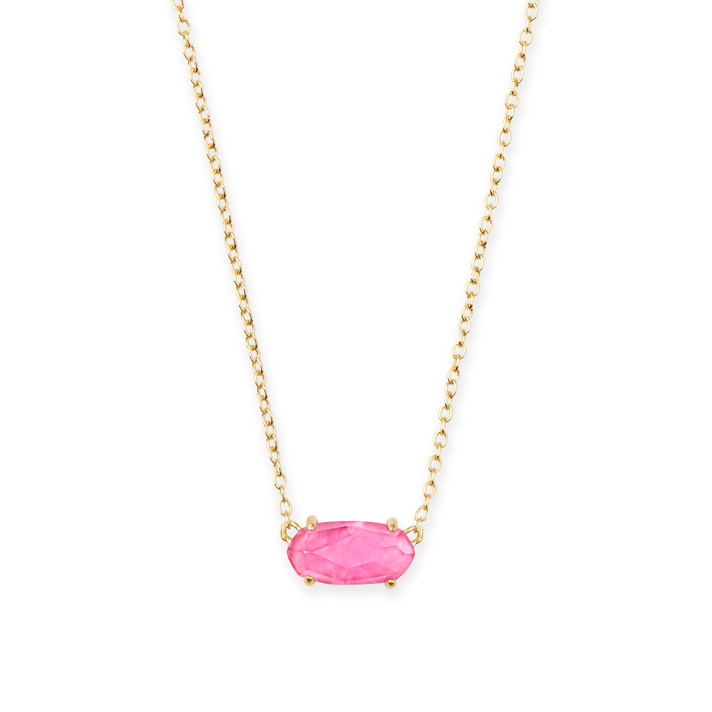 Kendra Scott Ever Gold Pendant Necklace in Azalea Illusion