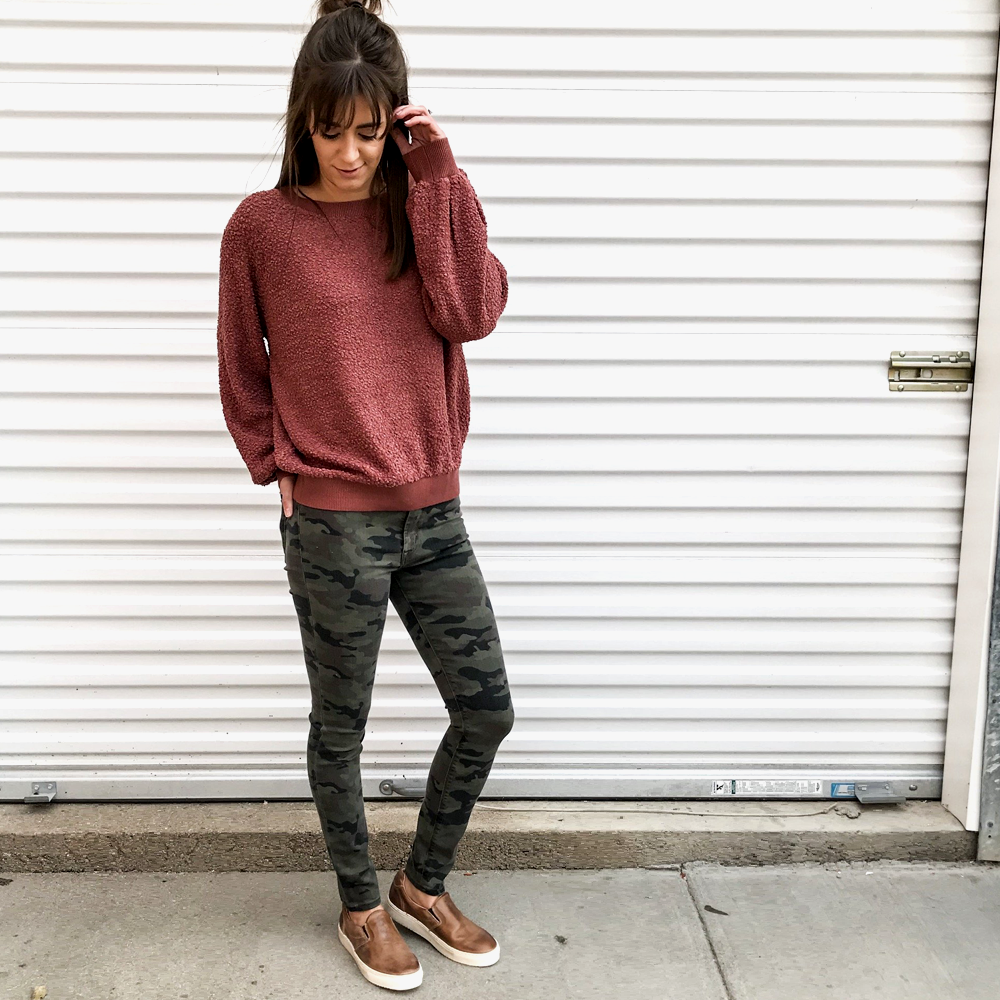 Hudson Jeans Barbara High Rise Super Skinny Ankle in Deployed Camo
