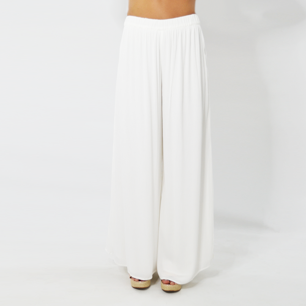 Womens ASTARS Felicity Wide Leg Pant in White - Brother's on the Boulevard
