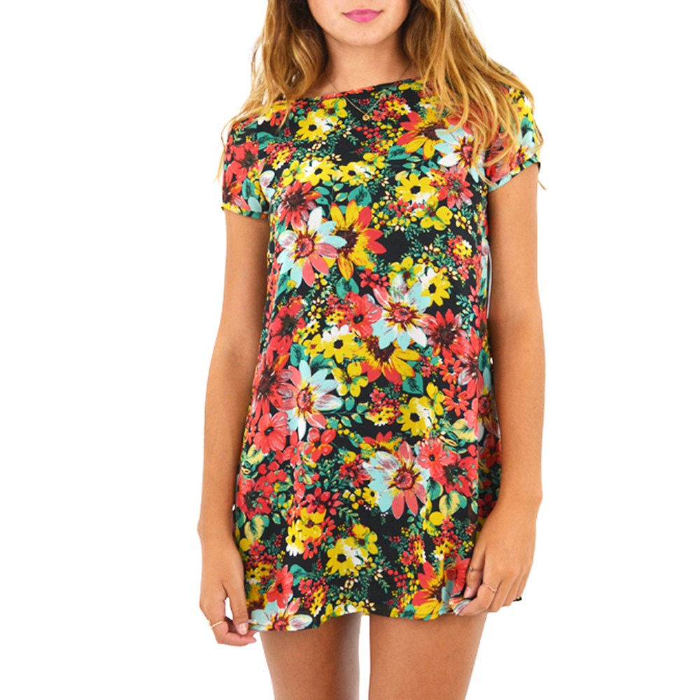 Womens Mabel Floral Print Dress in Multi - Brother's on the Boulevard