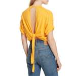 Womens Free People Garden Time Tee in Yellow - Brother's on the Boulevard