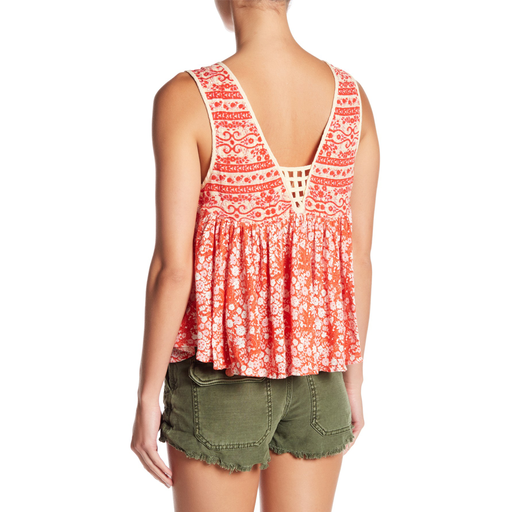 Womens Free People Lucky Coin Tank in Orange - Brother's on the Boulevard