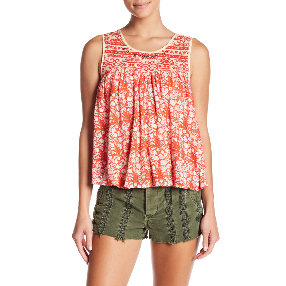 Free People Lucky Coin Tank in Orange