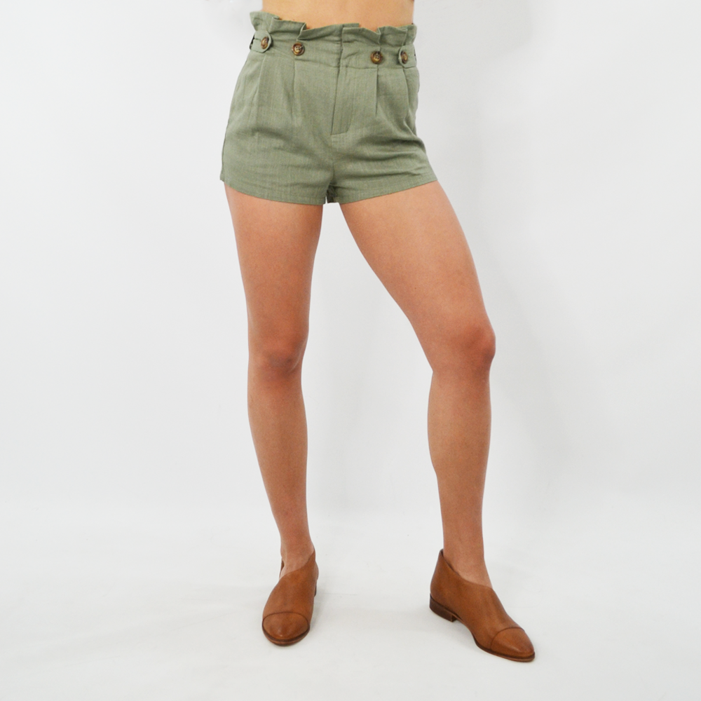 NYLA Paper Bag Short in Olive