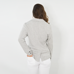 Womens NYLA Artiste Ultra Soft Blazer in Heathered Grey - Brother's on the Boulevard