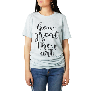 "Womens Brother's ""How Great Thou Art"" Tee in Mint - Brother's on the Boulevard"