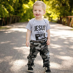 "Ruby's Rubbish Kids ""Jesus is my Jam"" Tee in Heather Grey"