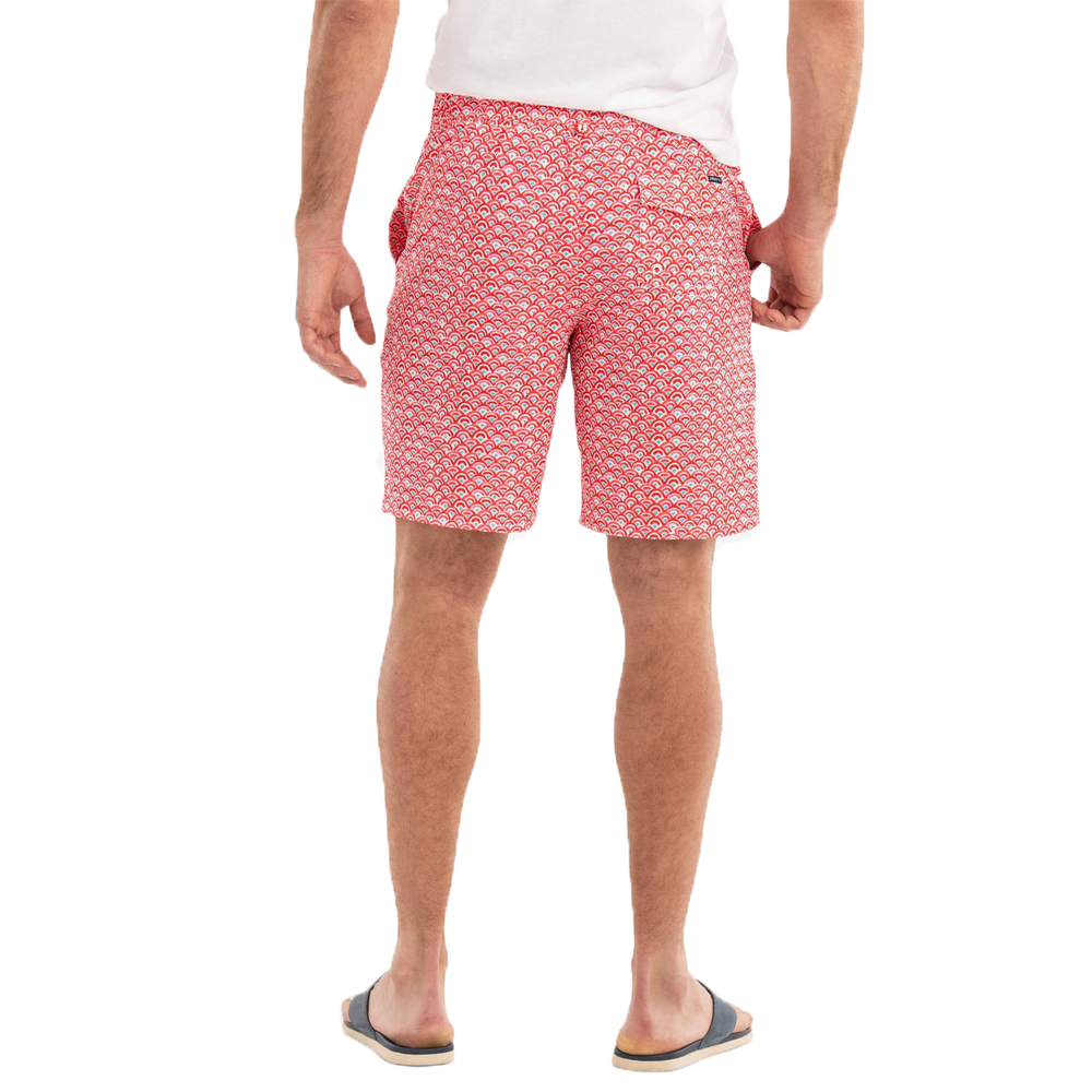 Mens Johnnie-O Manteo Half Elastic Surf Short in Coral Reefer - Brother's on the Boulevard