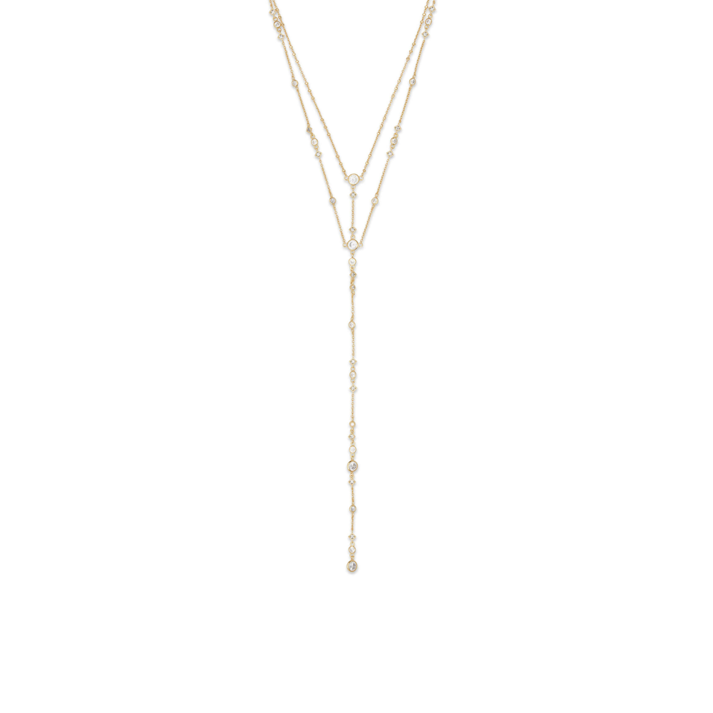 Womens Kendra Scott Watson Y Necklace In Gold - Brother's on the Boulevard
