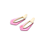 Womens Kendra Scott Kiernan Gold Hoop Earrings in Azalea Illusion - Brother's on the Boulevard
