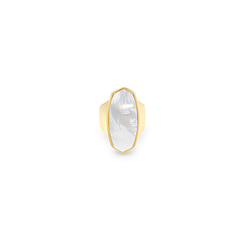 Womens Kendra Scott Kit Cocktail Ring in Ivory Mother of Pearl - Brother's on the Boulevard