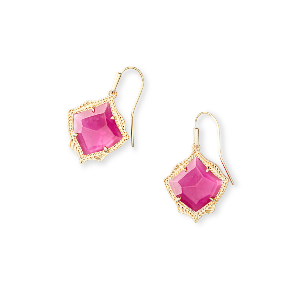Kendra Scott Kyrie Gold Drop Earrings in Azalea Illusion