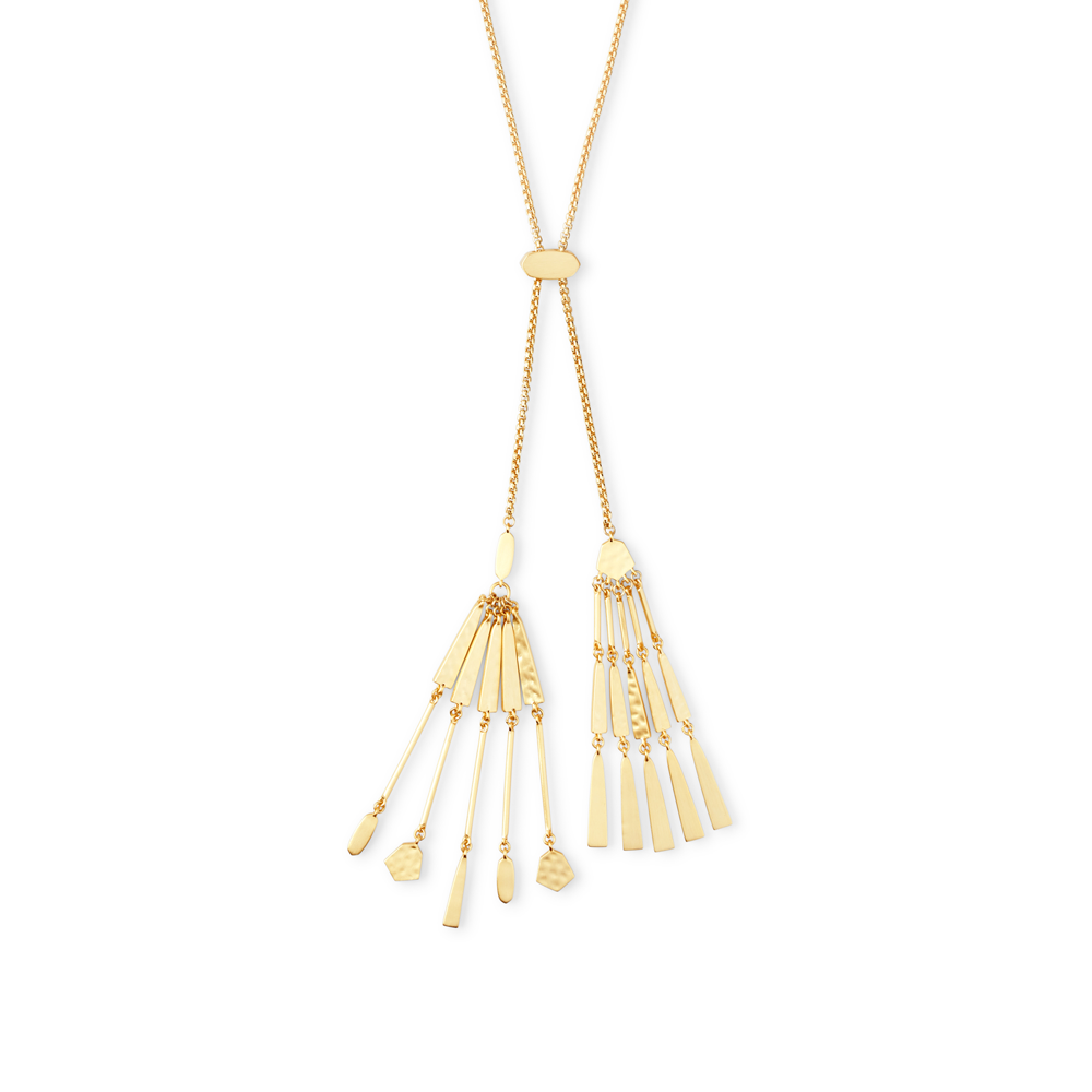 Kendra Scott Lainey Y Necklace in Gold