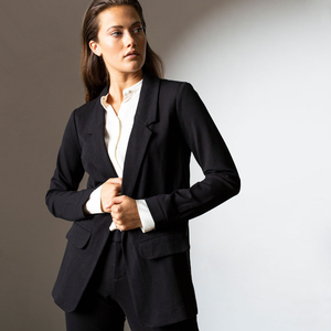 Womens Liverpool Boyfriend Blazer in Black - Brother's on the Boulevard