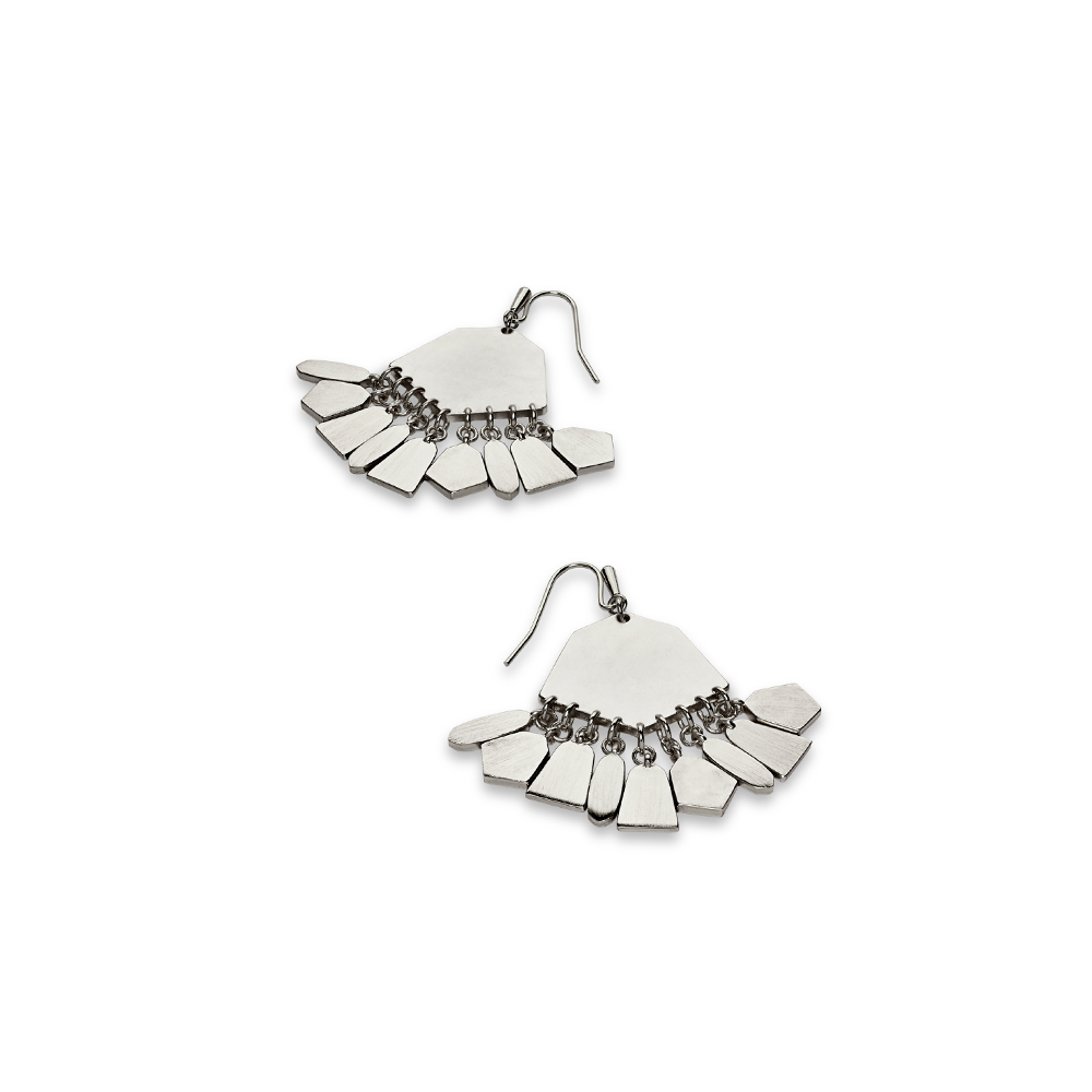 Womens Kendra Scott Liz Statment Earrings in Silver - Brother's on the Boulevard
