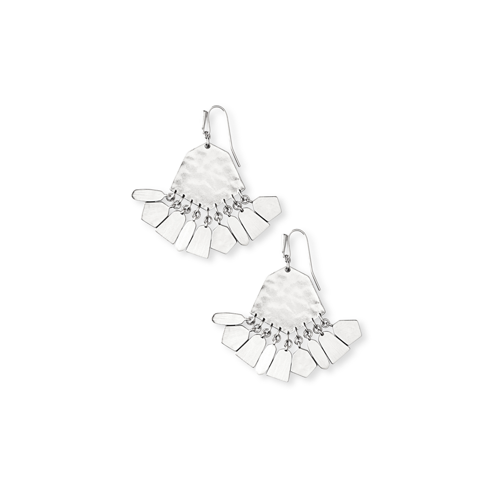 Kendra Scott Liz Statment Earrings in Silver
