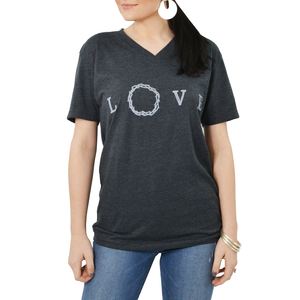 "Womens Brother's ""Love Crown"" Tee in Black - Brother's on the Boulevard"