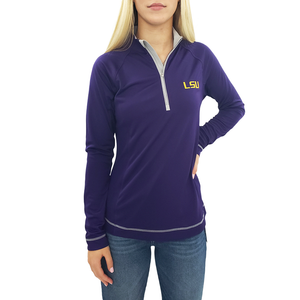 Womens Cutter & Buck Dry-Tec Half Zip Pullover in Purple - Brother's on the Boulevard