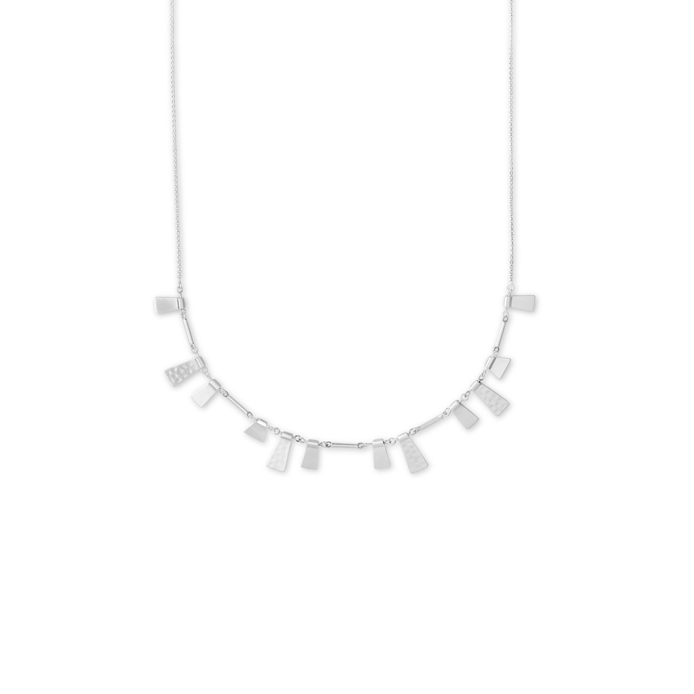 Womens Kendra Scott Lynne Adjustable Necklace In Bright Silver - Brother's on the Boulevard