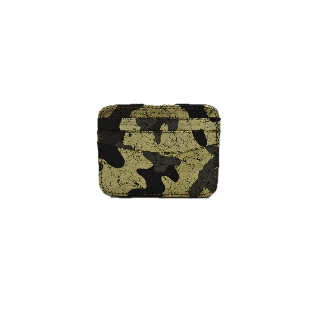CoFi Leather Magic Wallet in Black Gold Camo
