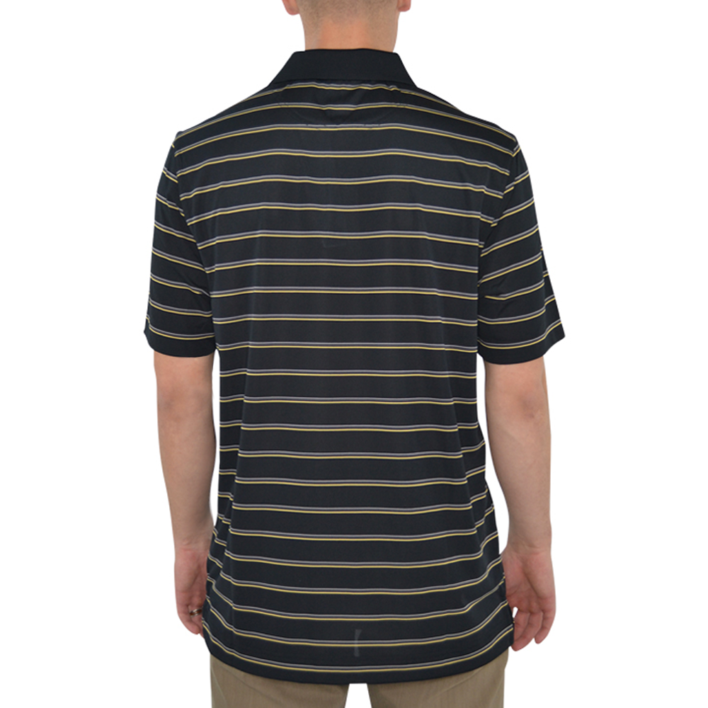 Mens Cutter & Buck New Orleans Saints Venture Stripe Polo in Black - Brother's on the Boulevard