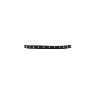 Womens ADA Collection Cala Small Python Belt in Navy - Brother's on the Boulevard