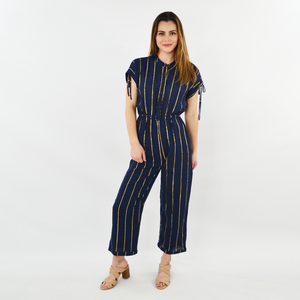 Womens Corey Lynn Calter Jenna Jumpsuit in Navy Metal - Brother's on the Boulevard