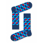 Mens Happy Socks Optic Square Print in Navy and Red - Brother's on the Boulevard