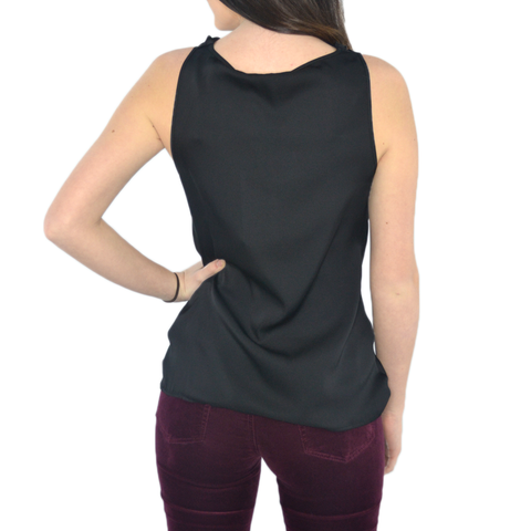 Womens Catherine Kate Paris Cowl Neck Tank in Black - Brother's on the Boulevard