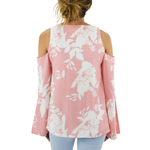 Womens Elliatt Enchanted Cold Shoulder Top in Dusk Pink - Brother's on the Boulevard