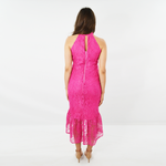 Womens Forest Lily Lace Ruffled Dress in Fuchsia - Brother's on the Boulevard