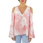 Elliatt Enchanted Cold Shoulder Top in Dusk Pink