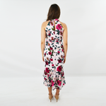 Womens Forest Lily Floral Satin Burnout Dress in Pink Combo - Brother's on the Boulevard
